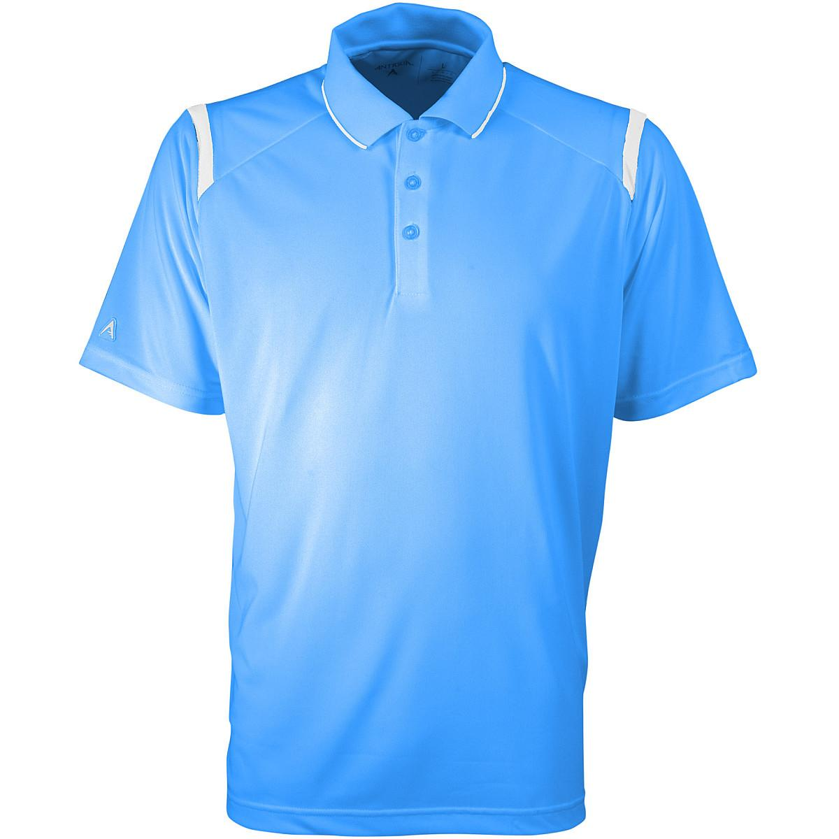Antigua Men s Merit Polo Shirt L Columbia Blue white. About this product.  Picture 1 of 2  Picture 2 of 2 0c553c3de