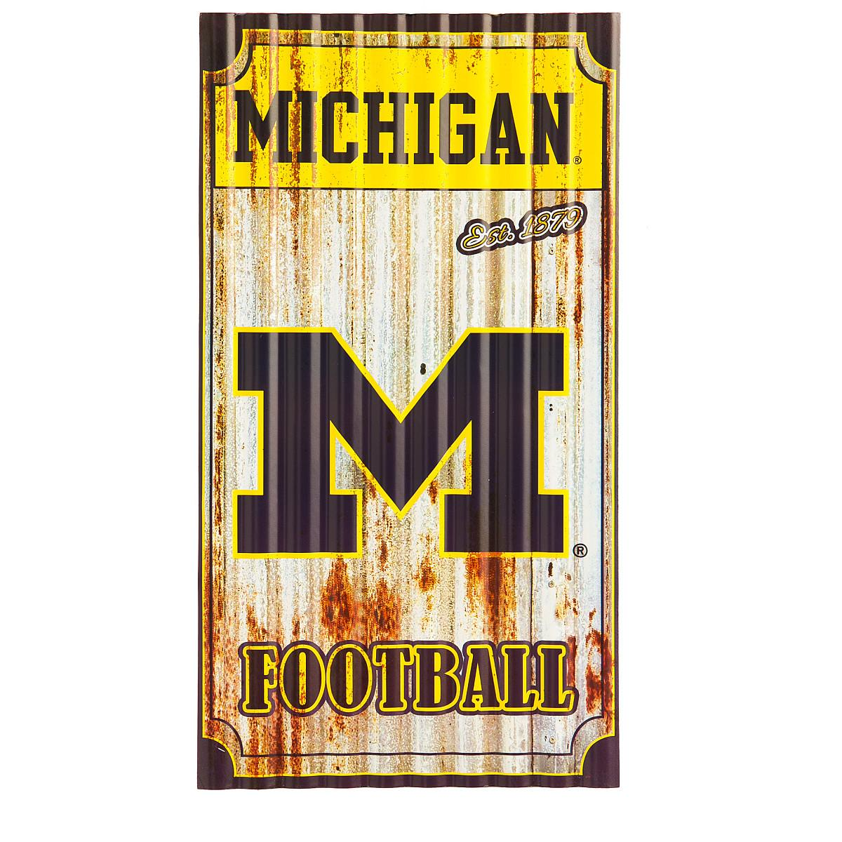 TEAM SPORTS AMERICA MICHIGAN WOLVERINES CORRUGATED METAL WALL ART ...