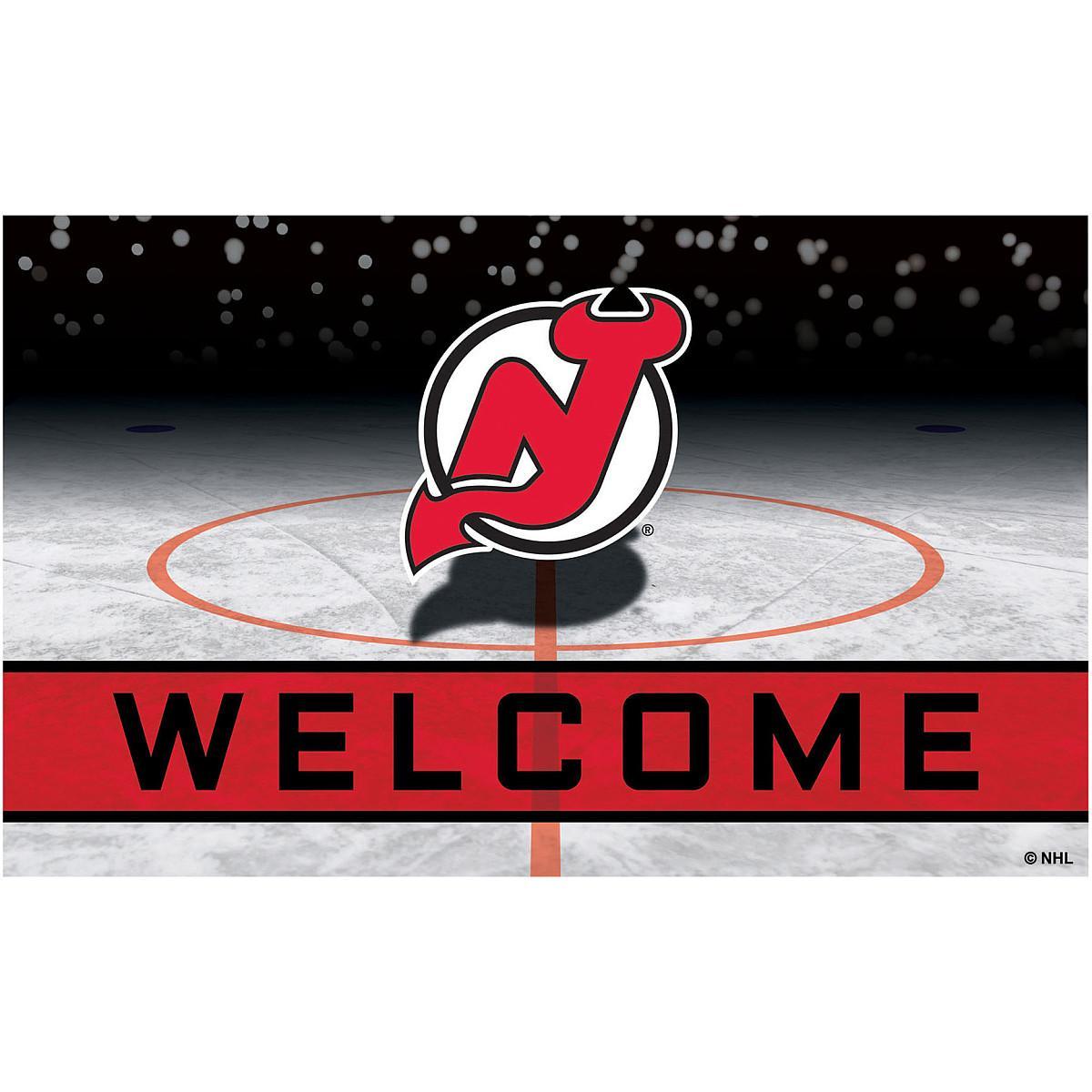FANMATS 21278 Team Color Crumb Rubber New Jersey Devils Door Mat