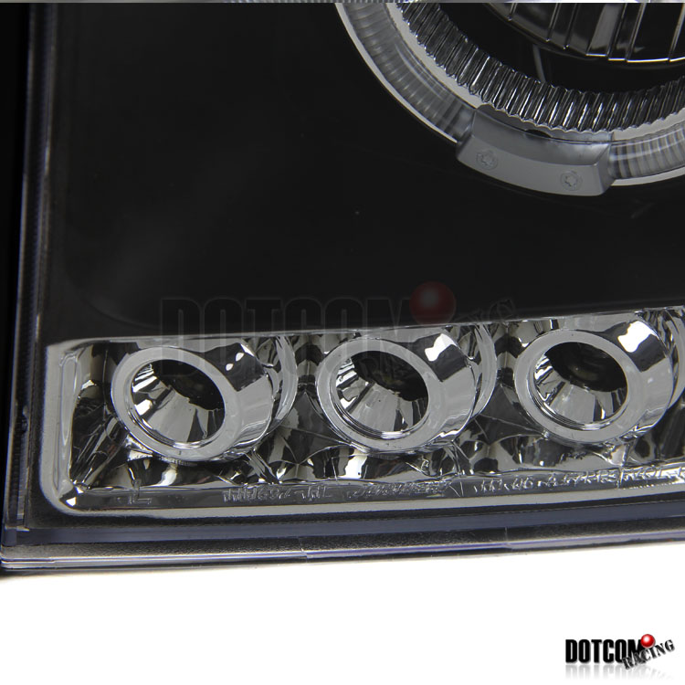 slim hid 2006 2008 dodge ram projector headlights black ebay. Black Bedroom Furniture Sets. Home Design Ideas