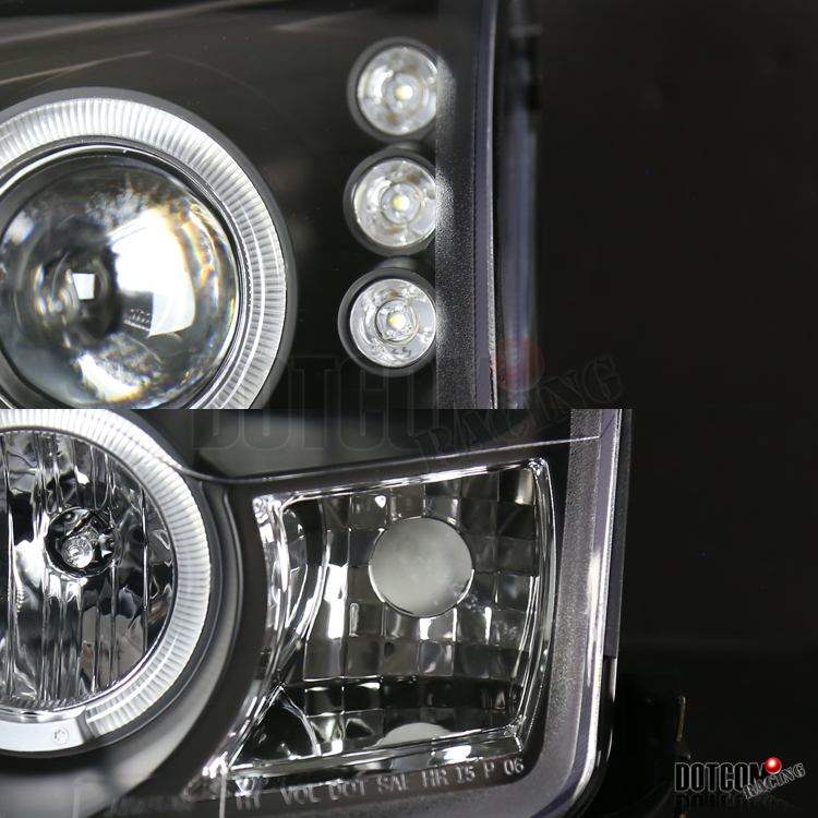 20062009    Ford       Fusion    Halo Black Projector    Headlights   H1