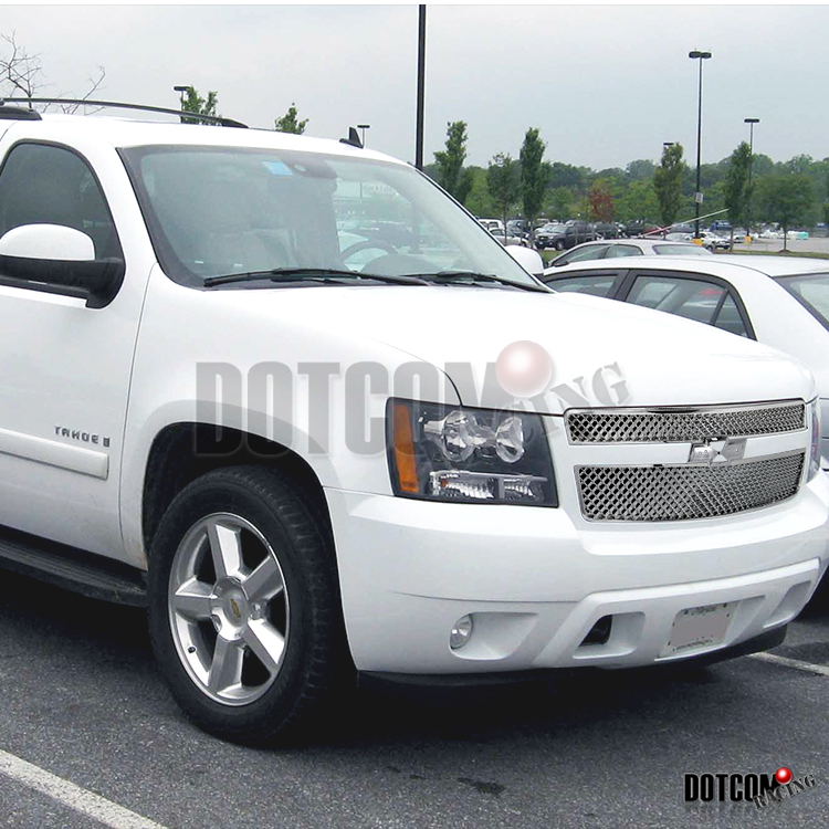 2007 2012 chevy avalanche tahoe mesh sty hood grill front grille ebay. Black Bedroom Furniture Sets. Home Design Ideas