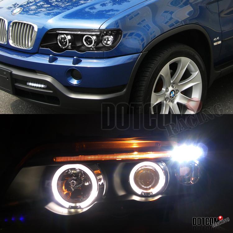2001-2003 BMW E53 X5 Black Halo Projector Headlight W/ 6