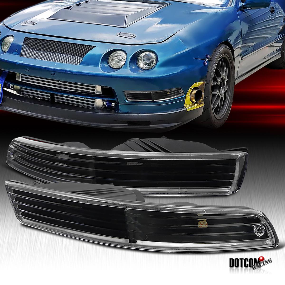 94-97 Acura Integra JDM Black Bumper Signal Light Lamps