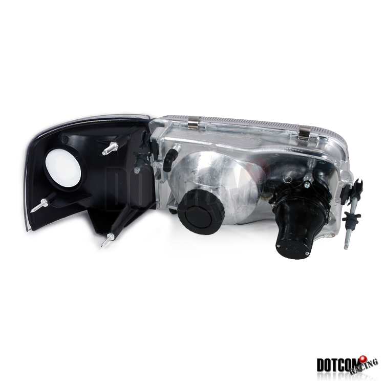 93-97 ford ranger euro chrome projector headlights+clear ... 97 ranger projector headlight wiring diagram