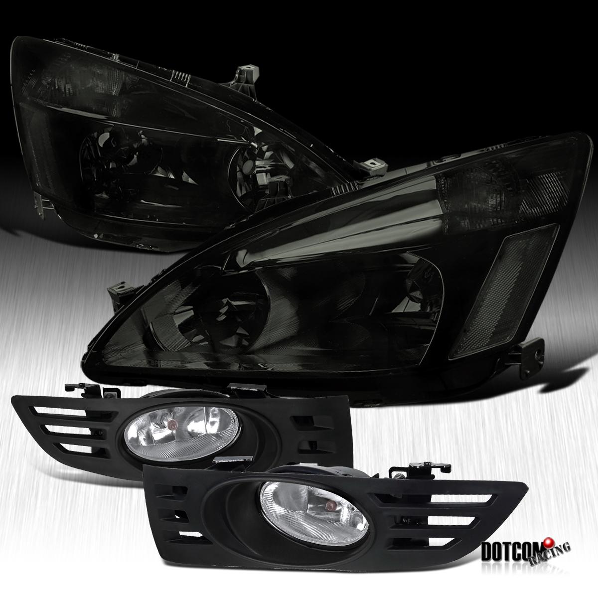honda 03-05 accord 2dr coupe jdm smoke tint headlight ... 2003 honda accord stereo wiring diagram #15