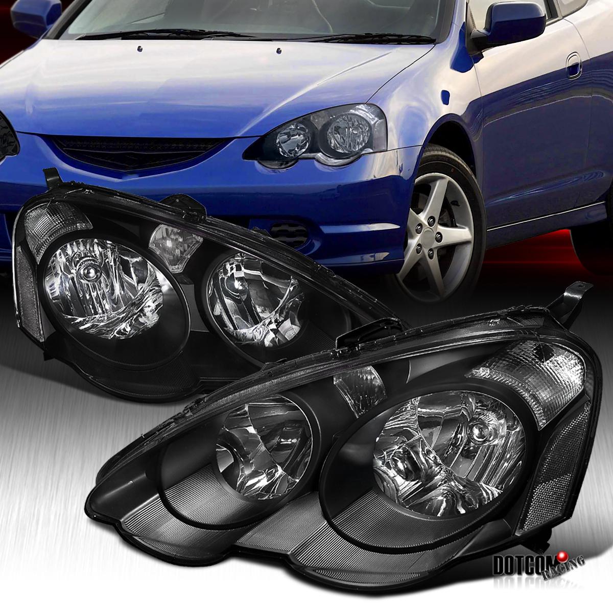 Fit 2002-2004 Acura RSX DC5 Black Clear JDM Headlights