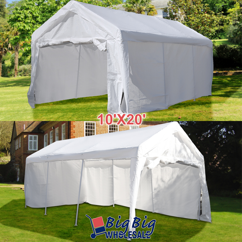 10 X20 White Heavy Duty Portable Garage Carport Car