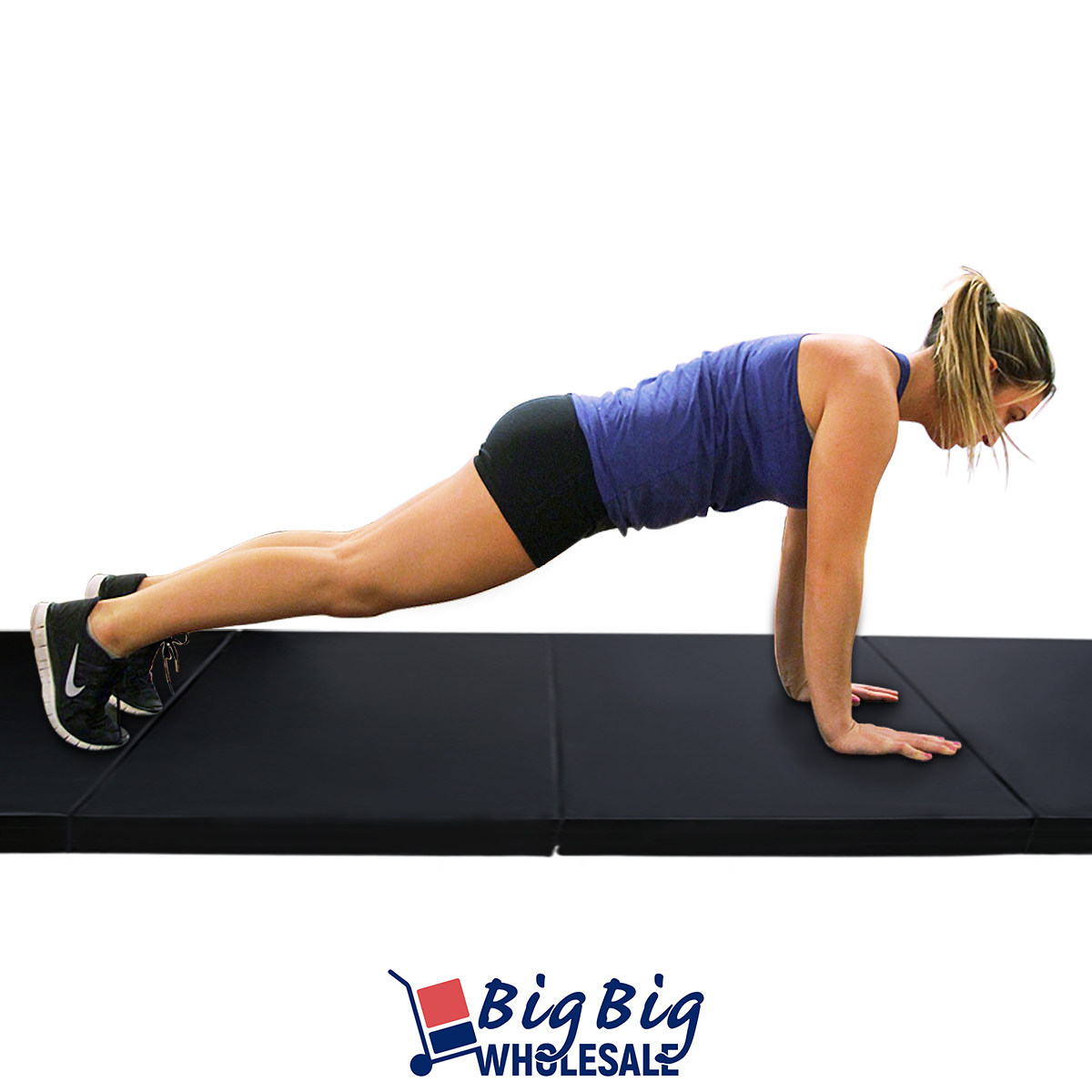 Black 4 X10 X2 Quot Thick Folding Gymnastics Mat Exercise