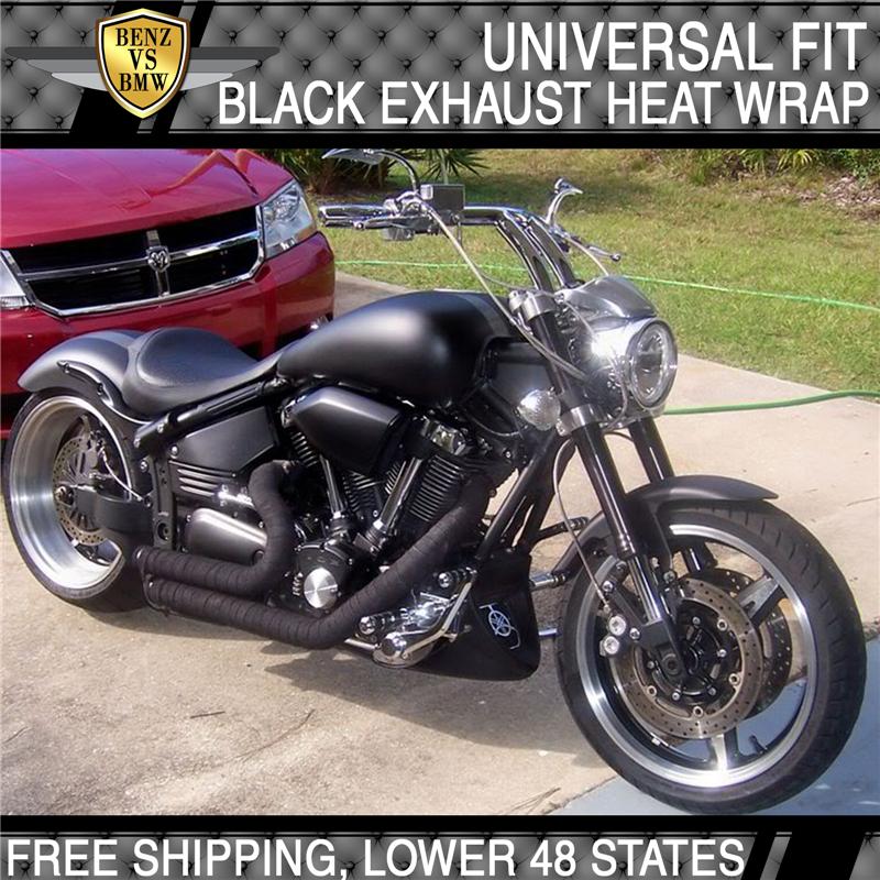 Exhaust Heat Wrap >> Exhaust Intake Turbo Manifold Catback Pipe Piping Heat Wrap Shield