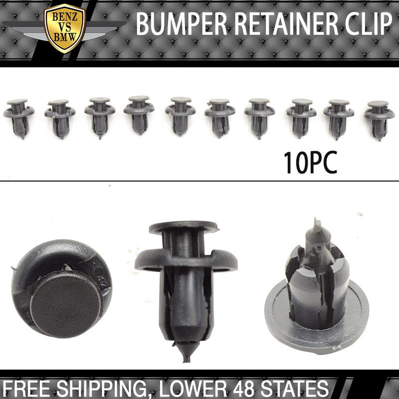 10pcs Plastic Rivet Fastener Bumper Clip Retainer Screw