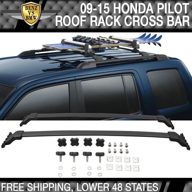 Fits 09-15 Honda Pilot OE Factory Style Top Roof Rack Cross Bar Aluminum
