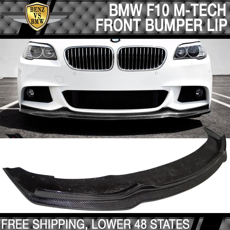 Fits 11-16 BMW F10 5 Series MSport MT AK Style Front Bumper Lip Spoiler PU