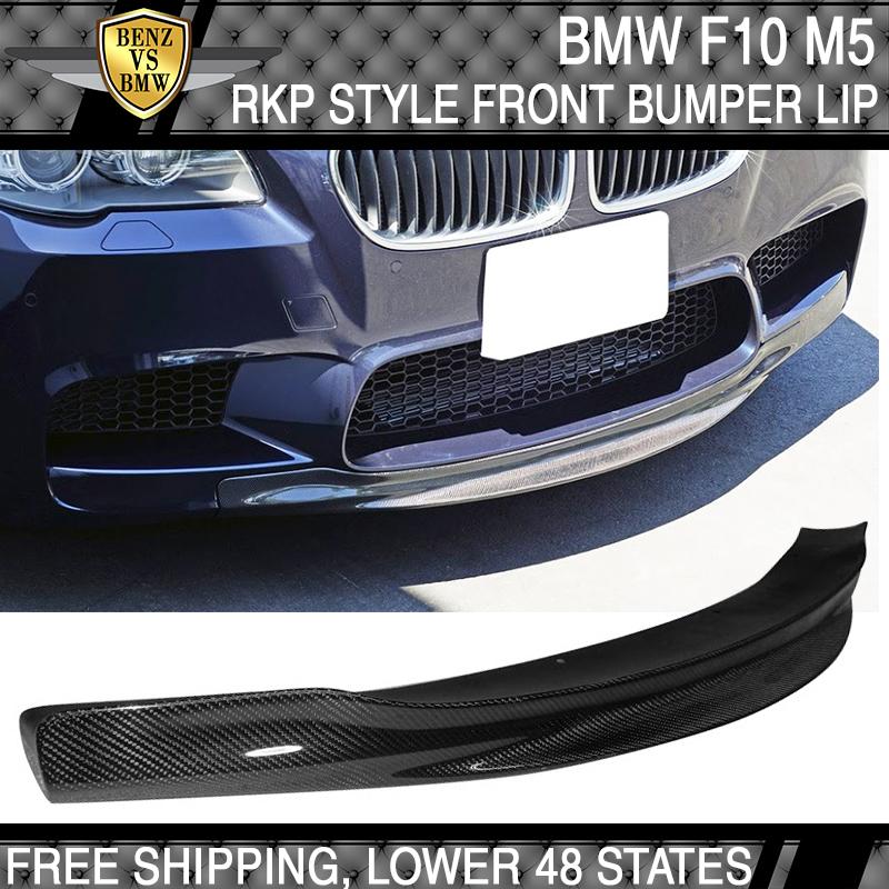 Carbon Fiber RKP Style Front Bumper Lip Spoiler For BMW F10 5-Series M5