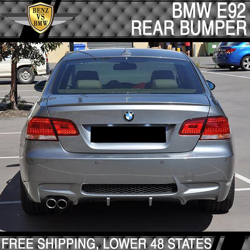 Fits 07 13 Bmw E92 E93 3 Series M3 Style Rear Bumper Cover Single
