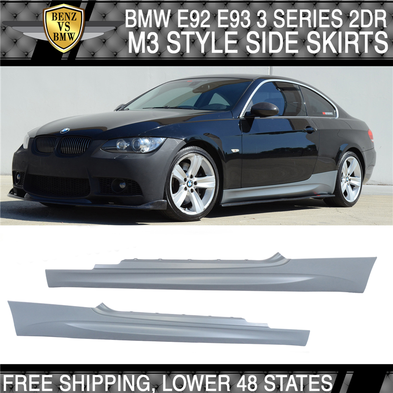 M3 Style Side Skirts Body Parts For BMW 07-13 3 Series E92 Coupe E93 Convertible