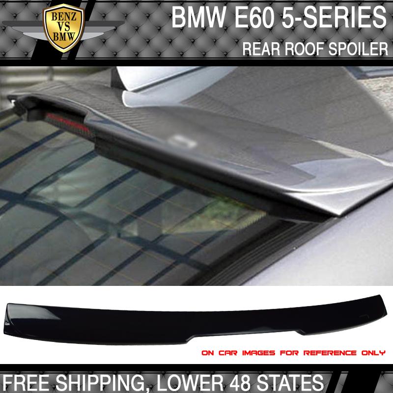 Fits 04-10 5 Series E60 Sedan AC Trunk Spoiler Paint #416 Carbon Black Metallic