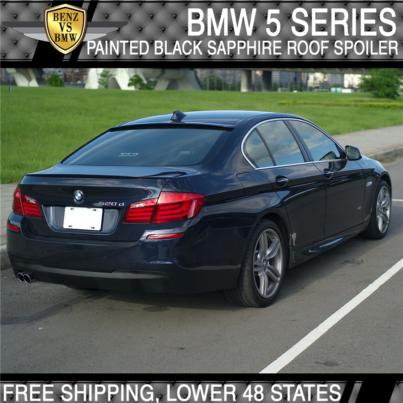 Details About Usa Stock 11 16 Bmw 5 Series Roof Spoiler Painted Black Sapphire Metallic 475