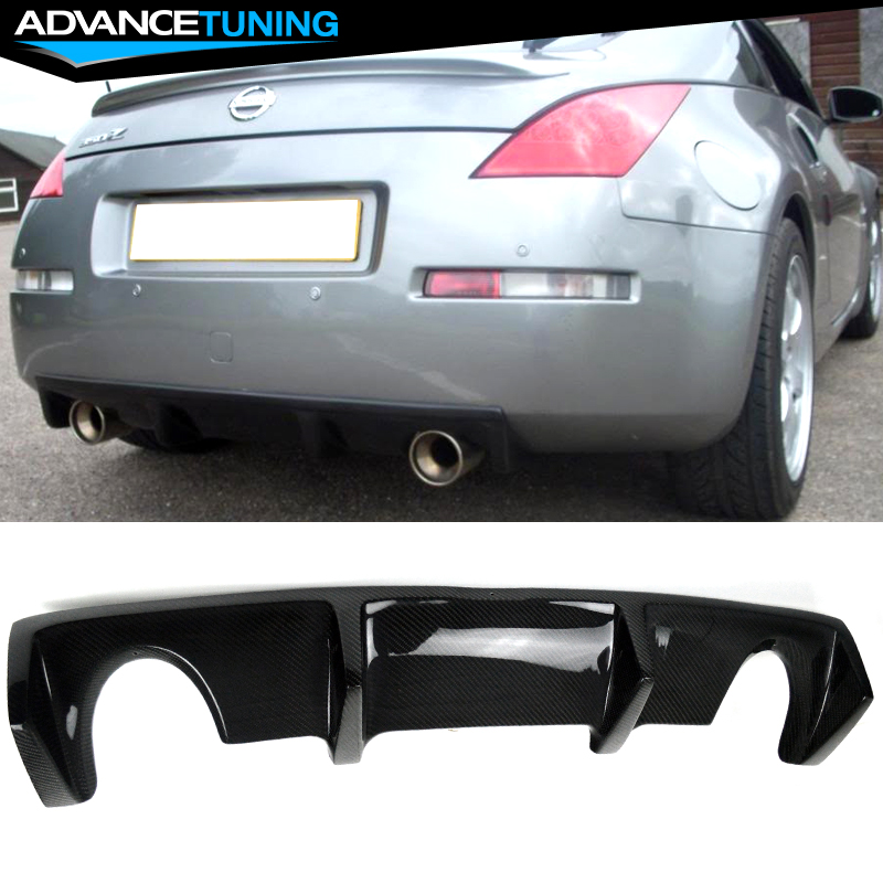 Nissan 350Z 2017 >> Details About Usa Stock Fits 03 08 Nissan 350z Z33 Oe Style Rear Diffuser Carbon Fiber Cf