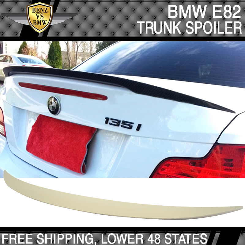 Painted ABS Performance Rear Trunk Spoiler Wing For BMW 1-ser E82 128i Coupe