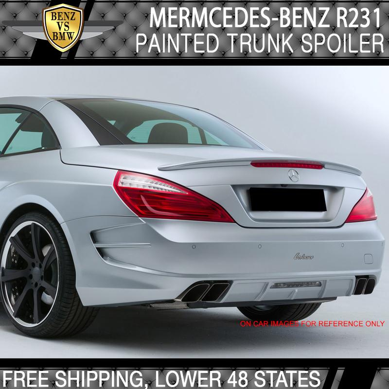 USA Stock 13-20 Benz SL-Class R231 D-Type ABS Plastic Unpainted Trunk Spoiler