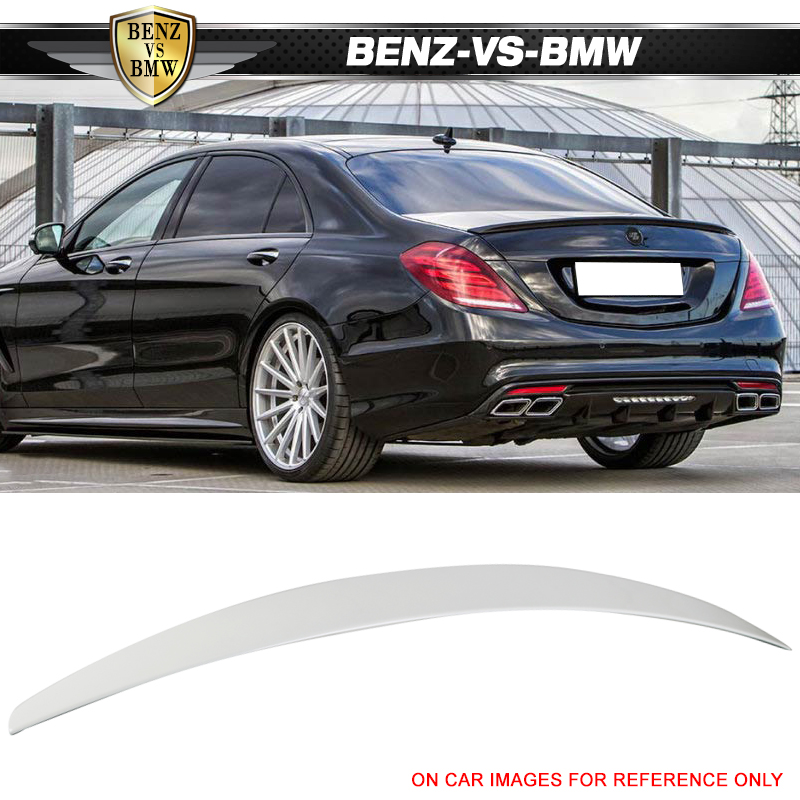 Diamond White Usa >> Details About Usa Stock Fit 14 18 W222 Factory Trunk Spoiler Painted 799 Diamond White Pearl