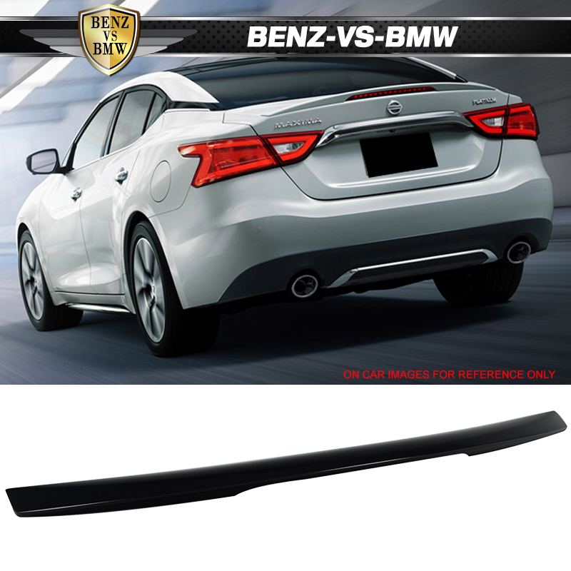 Painted ABS 16-19 For Nissan Maxima A36 OE2 Rear Trunk Spoiler #KH3 Black