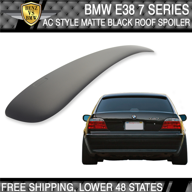 Stock IN US BMW 7-series E38 4D Sedan 750iL A Style Roof Spoiler Painted #668