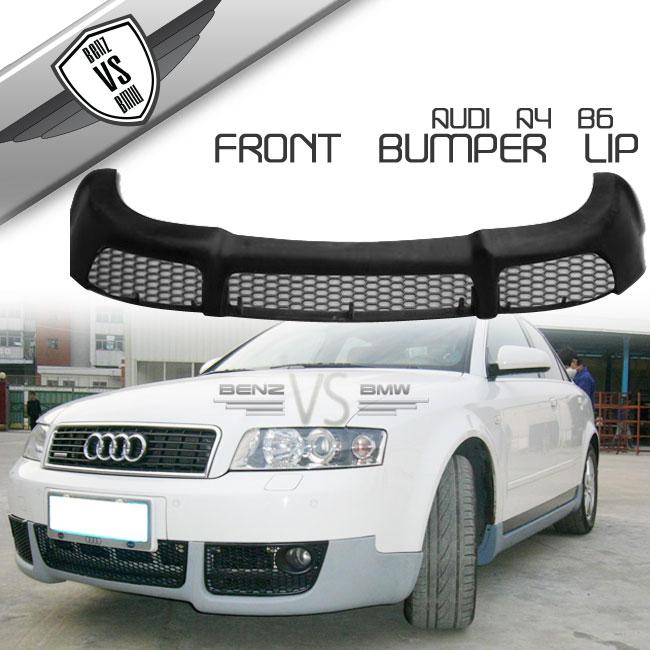 Fits 02 03 04 Audi A4 B6 V-Style Front Bumper Lip Spoiler Poly ...