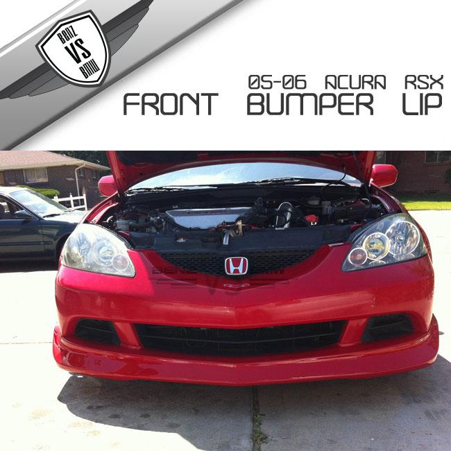 05-06 Acura RSX DC5 Mugen Poly Urethane Black Front Bumper