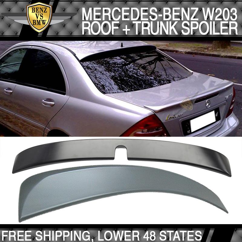 Unpainted MERCEDES BENZ 01-07 W203 C class Sedan L type rear roof spoiler ◎