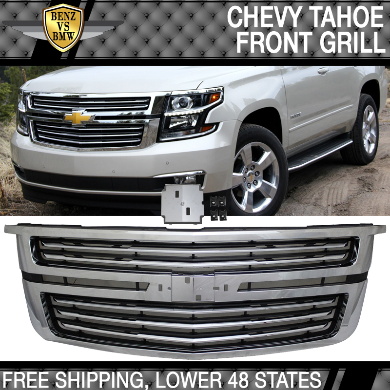 2017 Chevy Tahoe Ltz >> Details About Fits 15 17 Chevy Tahoe Ltz Style Front Upper Factory Grill Grille Chrome