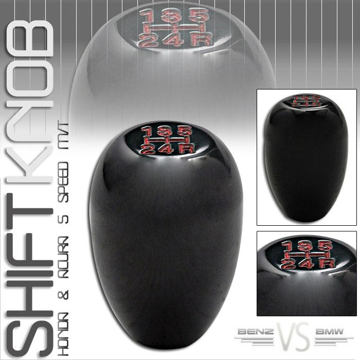 88-91 HONDA PRELUDE TYPE-R SHIFT KNOB 5 SPEED BLACK JDM