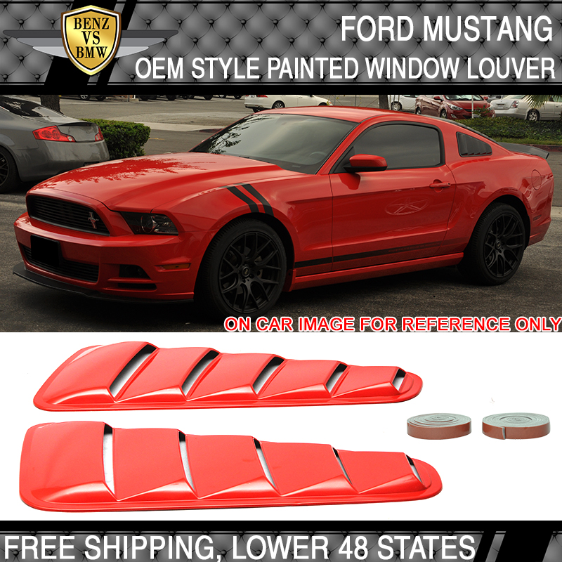 Fits 2005-2013 Ford Mustang Painted Hood Scoop Colorado Red D3