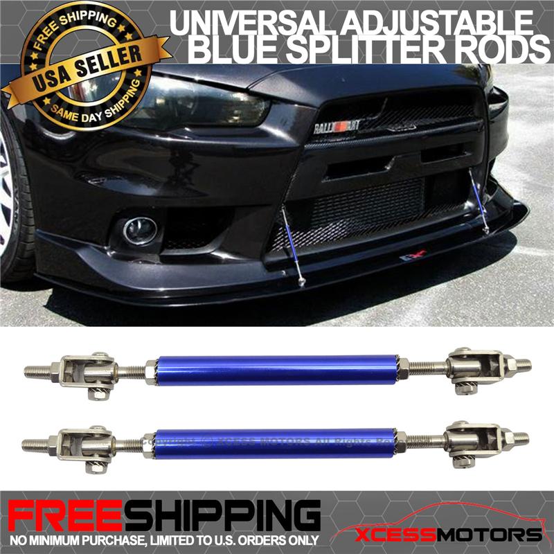 Strut Rods Fits Any Car Gunmetal Sanded Adjustable 5.5-8 Inch Bumper Lip Diffuser Rod by IKON MOTORSPORTS