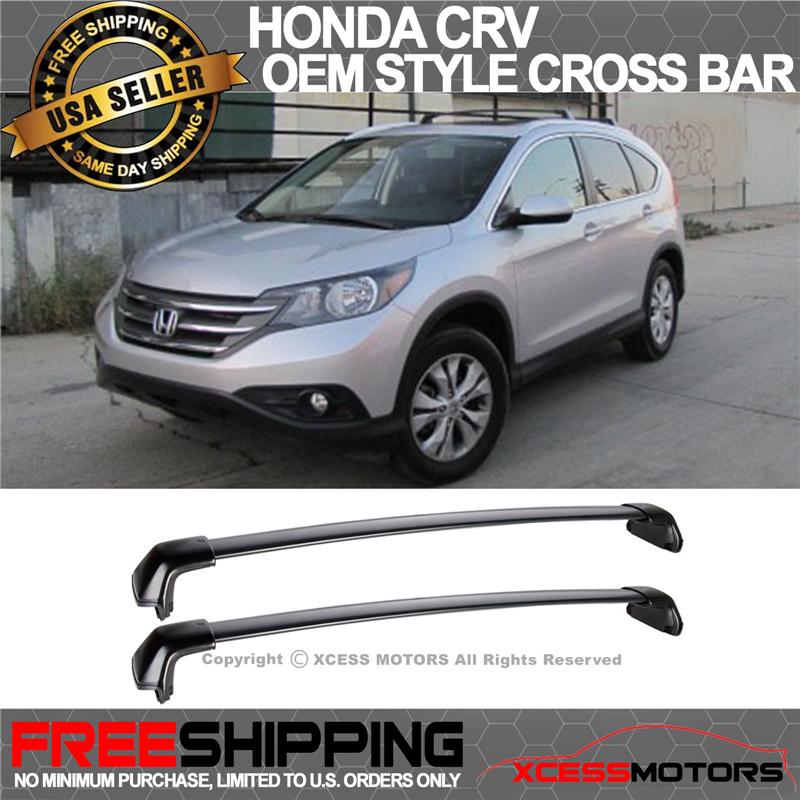 Fits 2012-2016 Honda CRV CR-V Black OE Factory Style Roof Rack Cross Bar