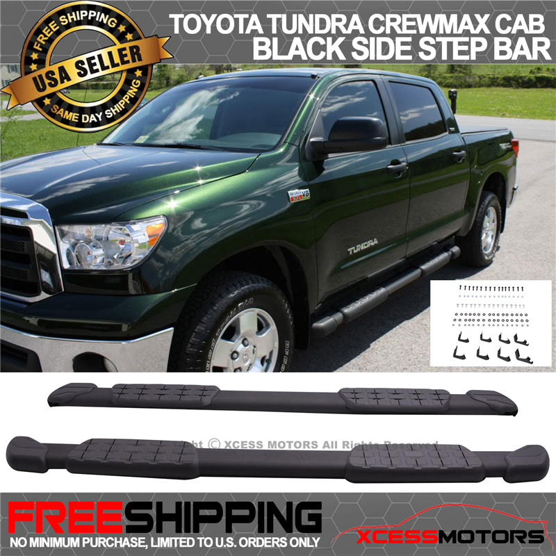 """2007-2017 Toyota Tundra CrewMax 6"""" Factory Side Step Nerf Bars Running Boards"""