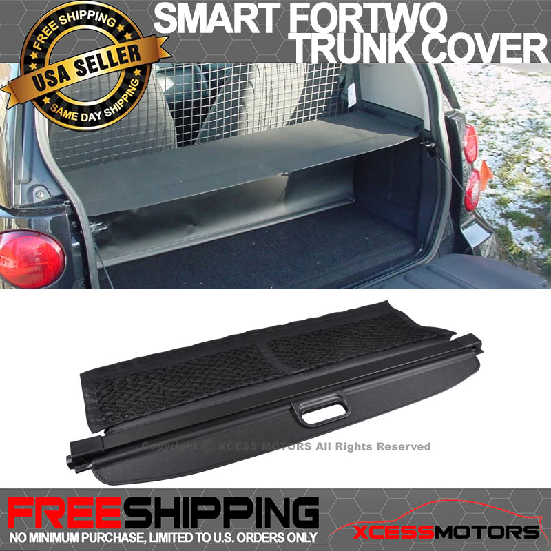 Fits 08-15 Smart Fortwo OE OEM Retractable Rear Cargo Security Trunk Cover Black