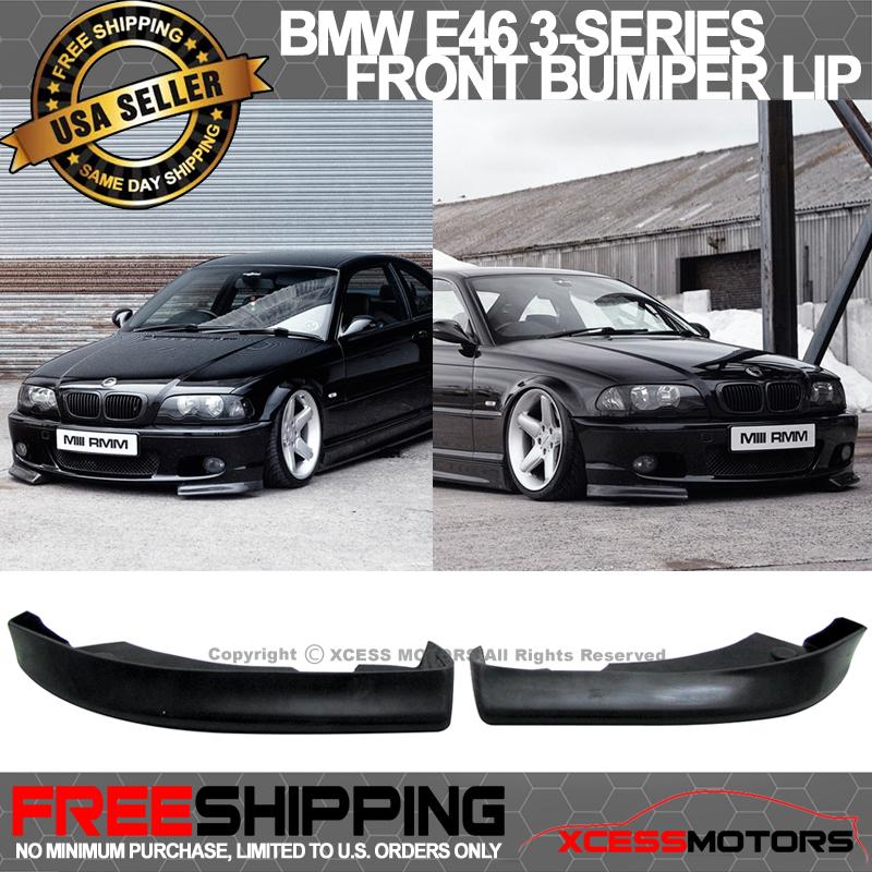 Fits 99-01 BMW E46 Euro Style Front Bumper Lip Chin Spoiler PU