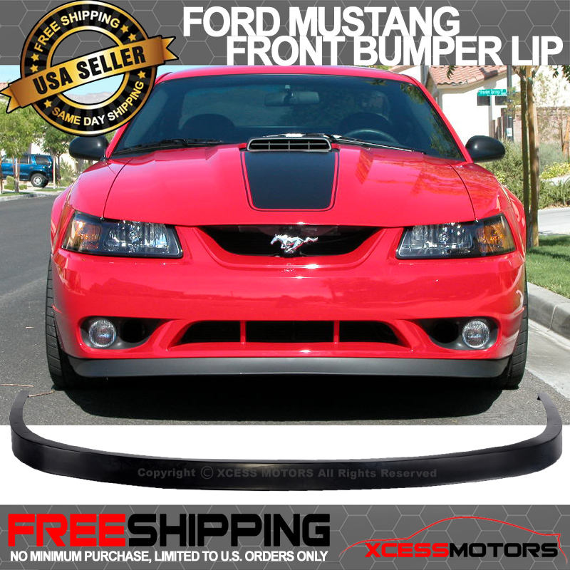 04 Mustang Gt >> Details About Fit 99 04 Mustang Gt Svt V6 V8 Oe Style Front Bumper Lip Spoiler Poly Urethane