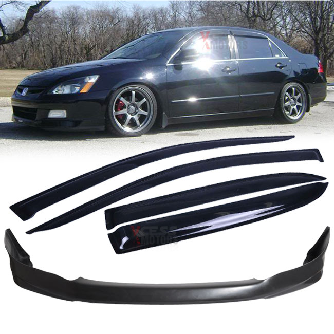 Fit 03-05 Honda Accord 4Dr HFP Type Urethane Front Bumper