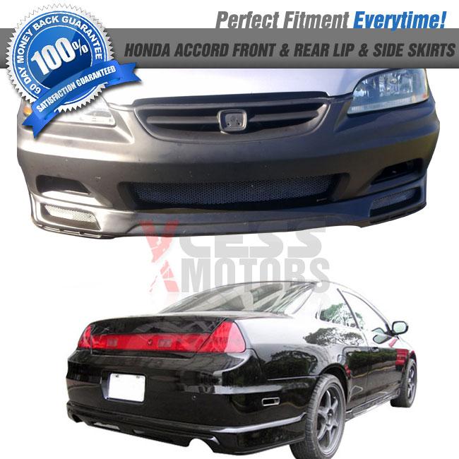 98-02 Honda Accord 2Dr Coupe JDM Front + Rear Bumper Lip
