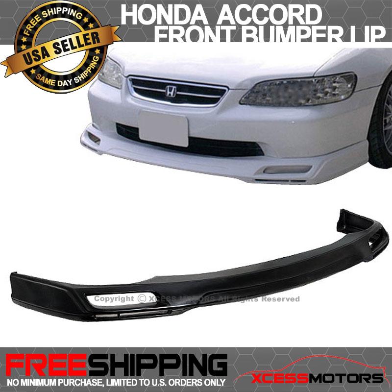 Fits 98-02 Honda Accord Sedan PU V-Style Front Bumper Lip Spoiler Splitter