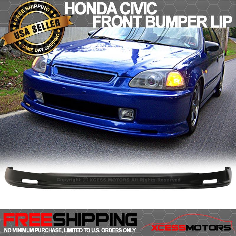 Mu-gen Style Front Bumper Lip Fits 96-98 Honda Civic 2dr Urethane