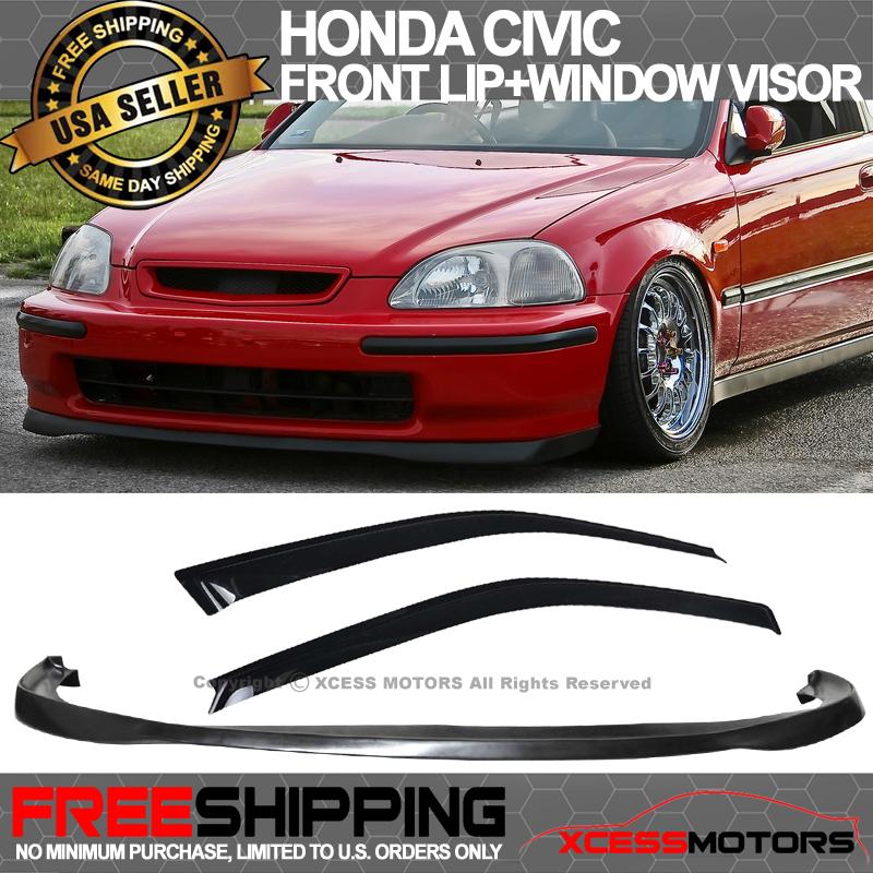 TR PU Rear Bumper LIp Spoiler Body kit For 96-00 Honda Civic EG 3D Hatchback