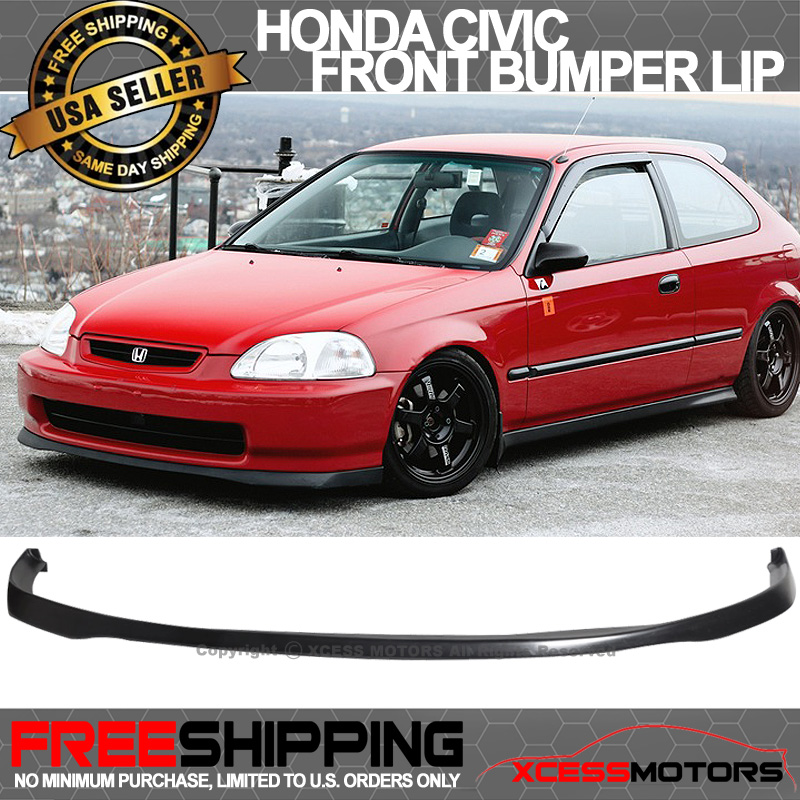 Fits 99 00 Honda Civic Ek Sir Si R Poly Urethane Front Bumper Lip