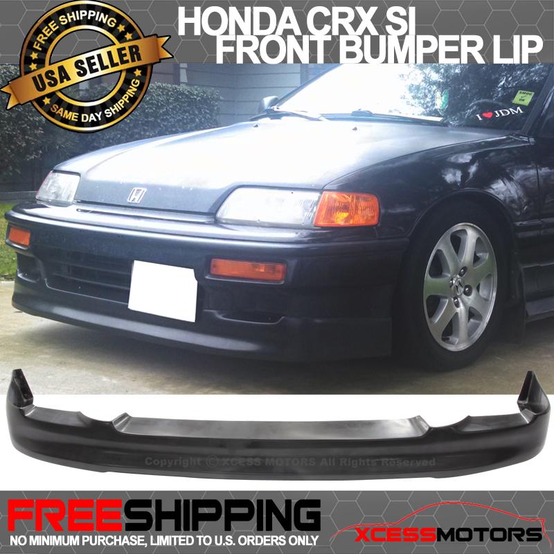 Fits 90-91 Honda CRX Si Only CS-Style Front Bumper Lip
