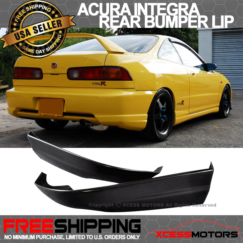 98-01 Acura Integra PU Rear Bumper Lip Spoiler 2PCS Poly