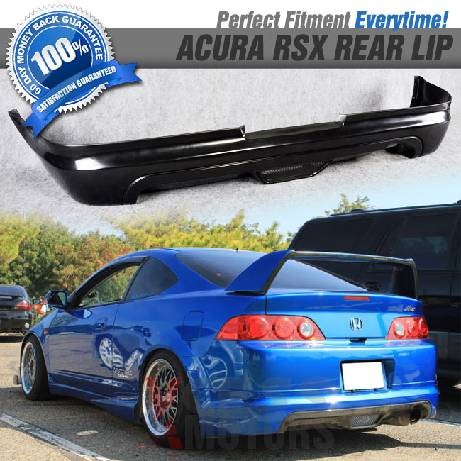 Fits 05-06 Acura RSX DC5 Mugen Type Poly Urethane Black Front Bumper Lip Spoiler