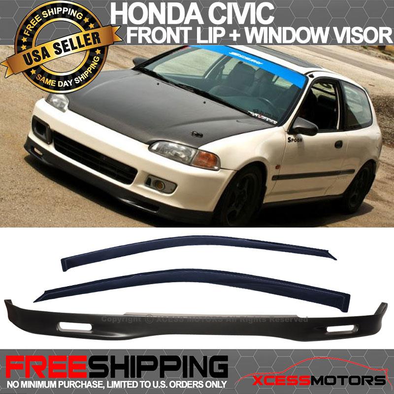 For 92-95 HONDA CIVIC EG Coupe 2Dr SPOON STYLE FRONT BUMPER LIP SPOILER URETHANE